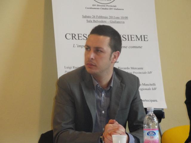 Luigi Ragni, Coordinatore IDV Giulianova