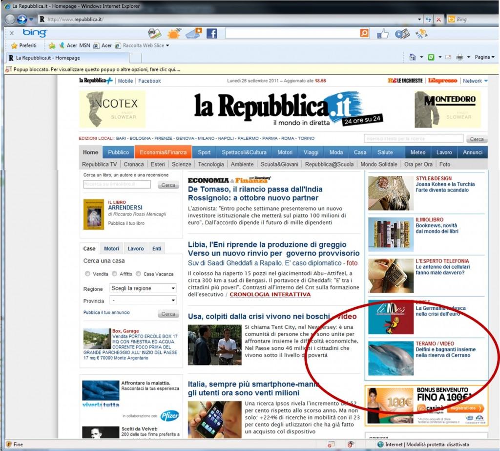 Pineto sul sito di repubblica for Sito repubblica