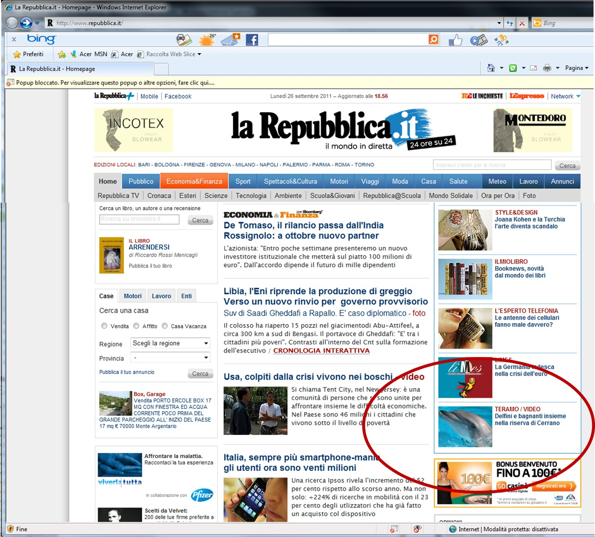 Pineto sul sito di repubblica for Home page repubblica