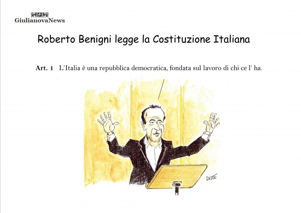 Roberto Benigni legge la costituzione italiana