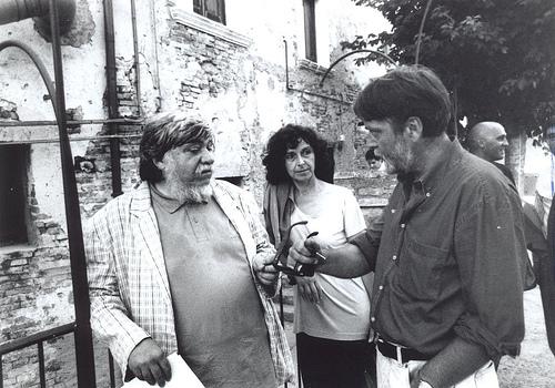 Giorgio Celli e Gabriele Di Pietro a Castelbasso (C) sito web Trasalimenti