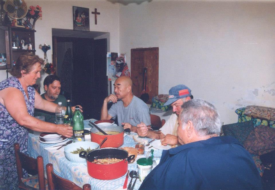 con Hidetoshi Nagasawa a Montone agosto 2002 - (C) Trasalimenti