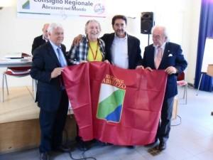 Antonio Prospero, Luciano Mastracci, Franco Caramanico e Franco Santellocco, nell'assemblea CRAM a Charleroi (Belgio)