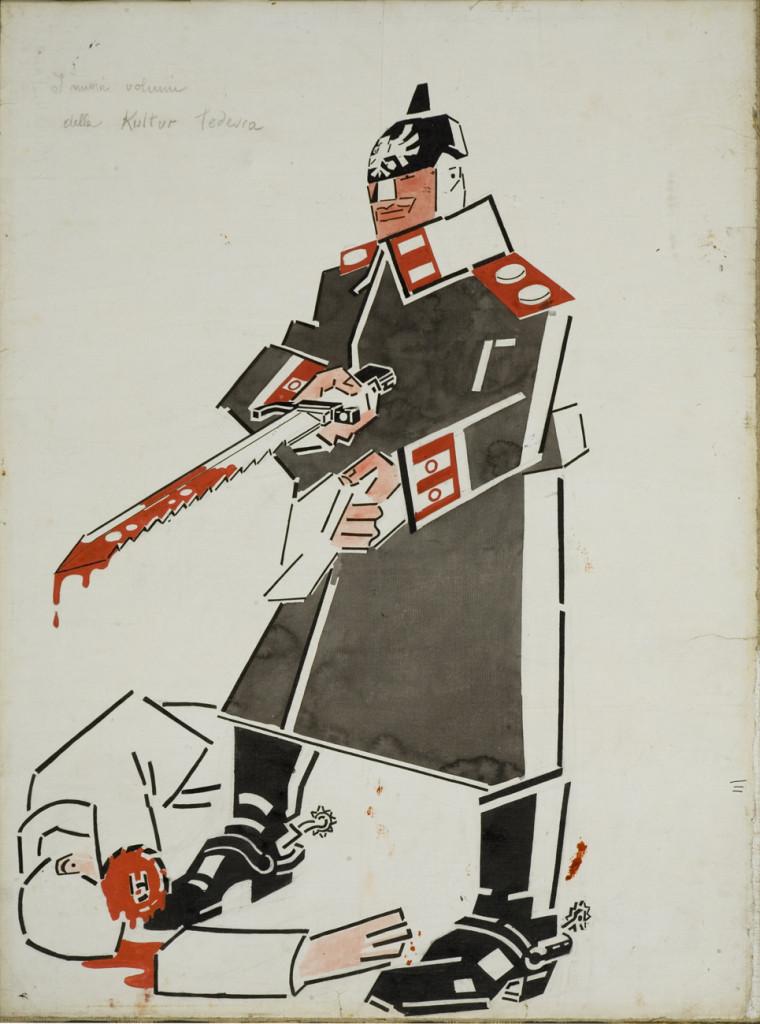 02_-Mario Sironi-I nuovi volumi della Kultur tedesca-1915-cm 63x46
