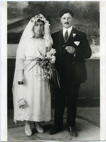 Matrimonio contadino nel 1923_ Angela Michini e Vincenzo Marsilii