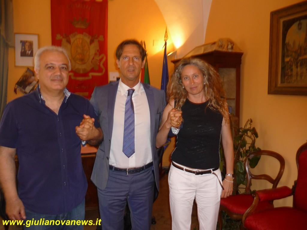 Da sx. Marinozzi, Mastromauro e Conte.