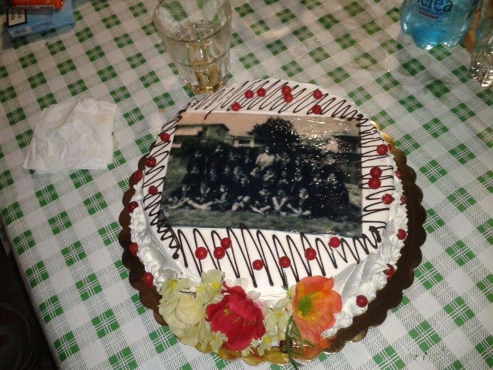 La torta con la foto