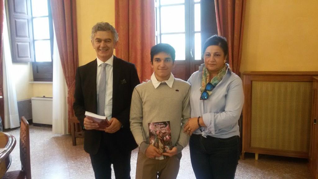 Il Presidente della Provincia, l'autore e Maria Teresa Orsini