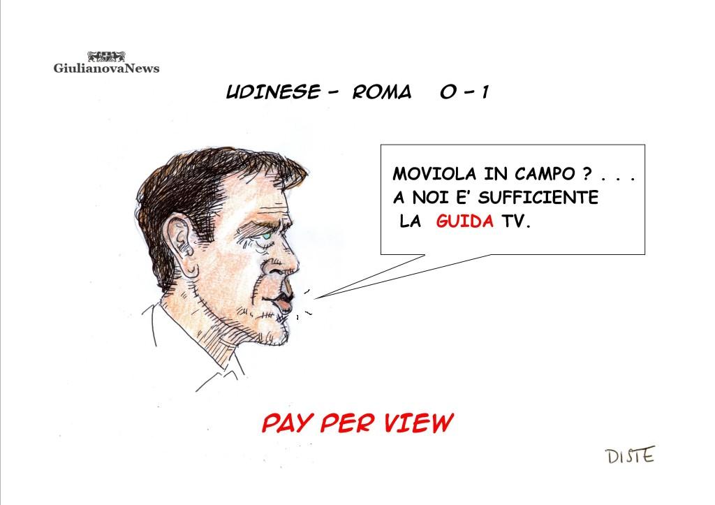 Polemiche per la rete assegnata alla Roma contro l'Udinese...il pallone sembra non varcare completamente la linea di porta.