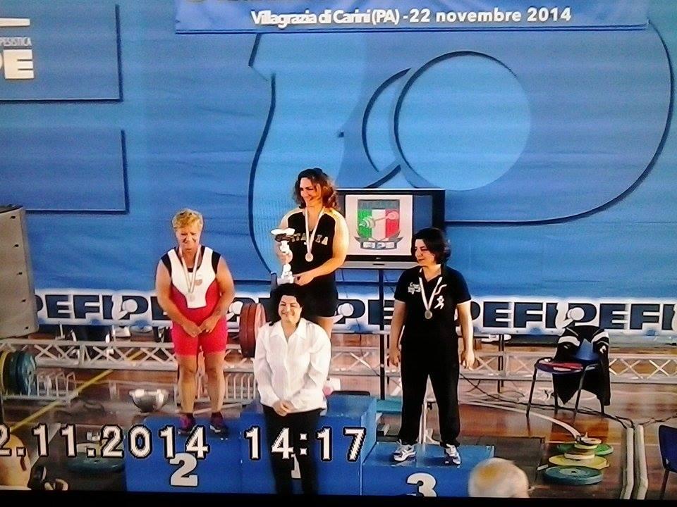 Luisa Terzilli ,Prima Classificata (medaglia d'oro