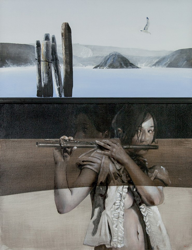 Concerto per flauto traverso, 2013, acrilico su tela cm.100x80
