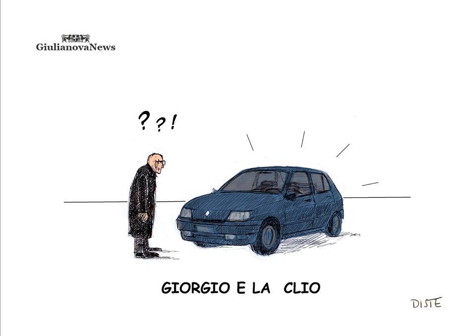 il presidente Napolitano lascia il Palazzo del Quirinale accompagnato dalla moglie Clio. (C) DISTE