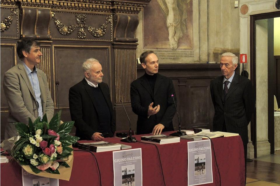 da sx. Giuseppe Bacci, Gigino Falconi, Flavio Rodeghiero, Armando Traini