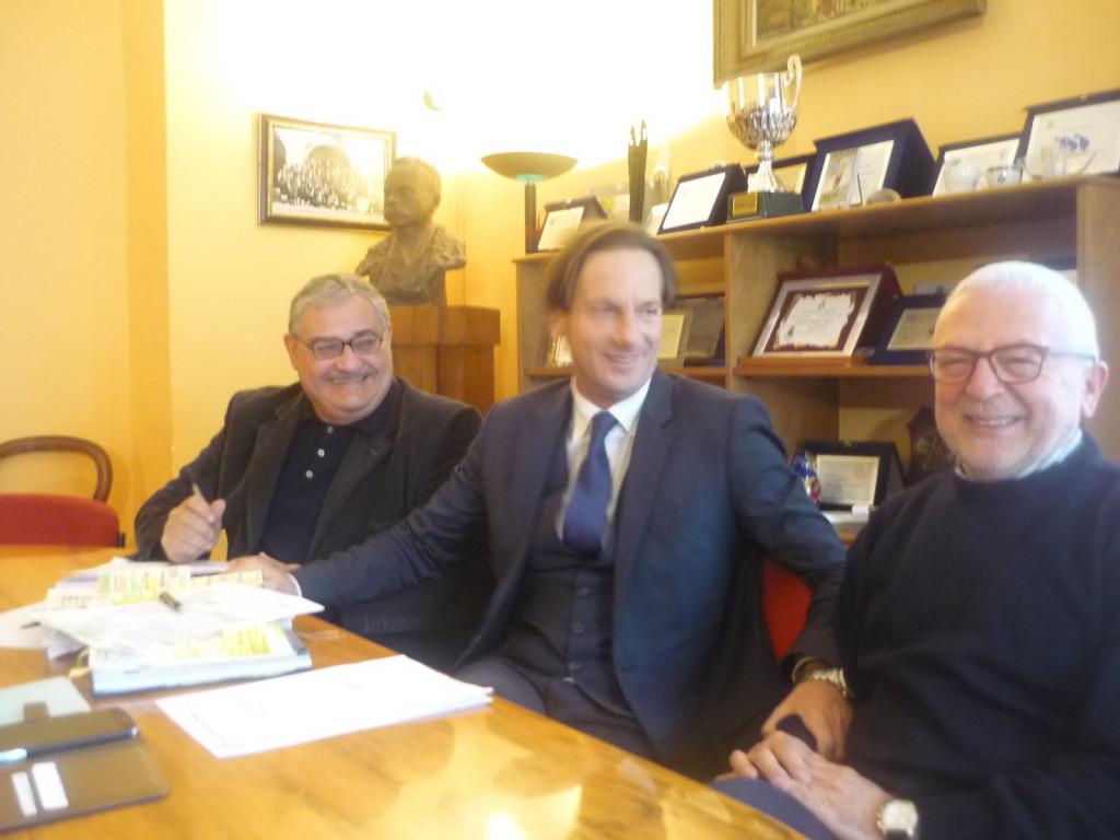 Da sin i sindaci di Mosciano, Giulianova e Bellante