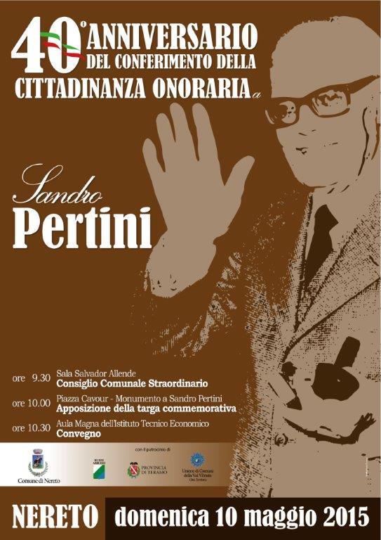 Locandina Sandro Pertini 2015