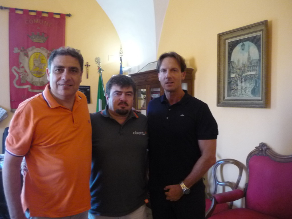 da sin ass. Guidobaldi, Falchi, sindaco Mastromauro.
