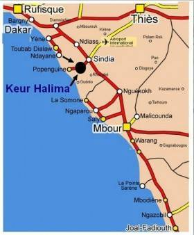 cartina dove nascerà la sede in senegal