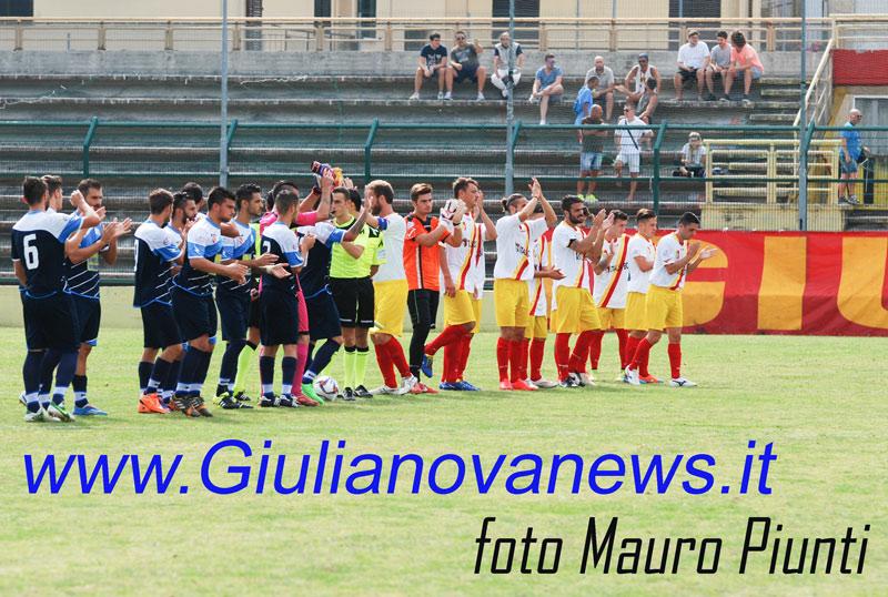 Giulianova. Giulianova-Isernia 1-2, seconda sconfitta per gli uomini di Giorgini. Foto di Mauro Piunti