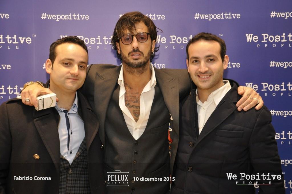 I fratelli Marini con Fabrizio Corona