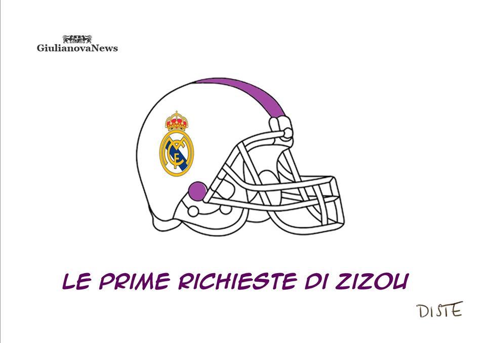 Vignetta di Vladimiro Di Stefano: SPORT : Zinedine Zidane è il nuovo allenatore del Real Madrid