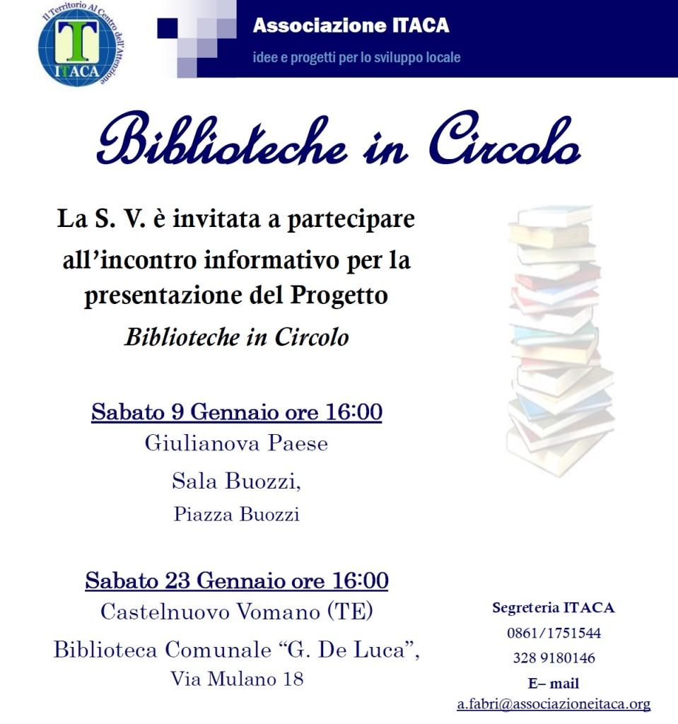 Invito biblioteche in circolo