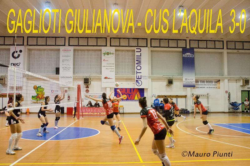 Giulianova. Volley: Gaglioti Giulianova – Cus L'Aquila 3-0. Foto di Mauro Piunti