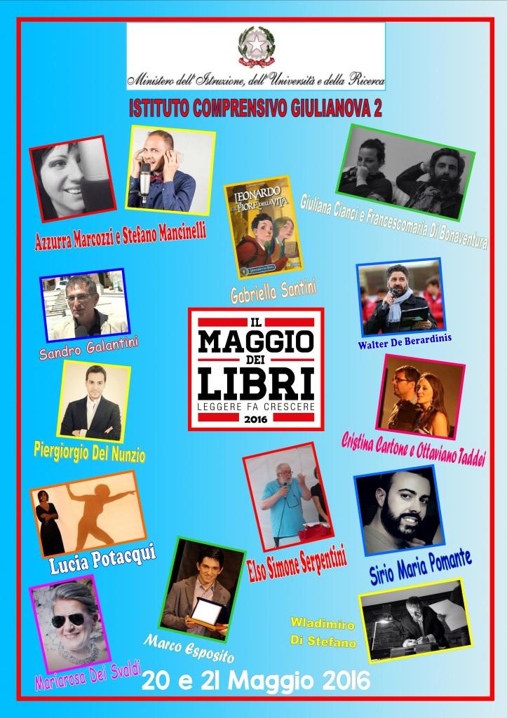 Giulianova. Maggio dei libri 2016 a Giulianova  – Evviva la Staffetta dei libri  –  20 e 21 maggio
