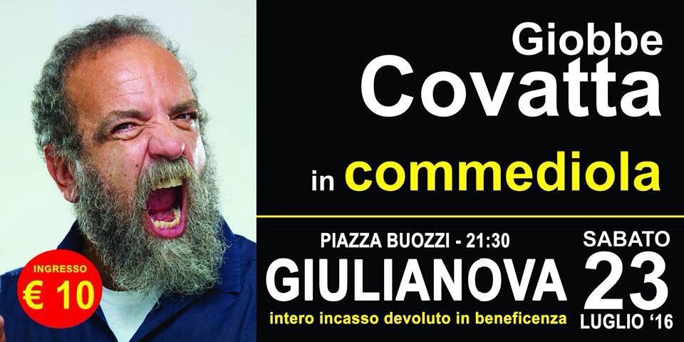 """Giulianova. Sabato 23 luglio torna all'interno della rassegna """"Facci ridere"""" in Piazza Buozzi ore 21,"""