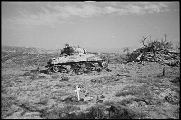 Sherman distrutto fuori Orsogna