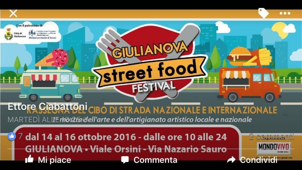 Giulianova. Tipicità italiane e dal mondo. Da oggi e sino al 16 ottobre il Giulianova Street Food Festival.
