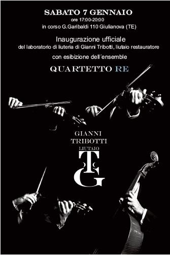 Giulianova. INAUGURAZIONE UFFICIALE del nuovo Atelier del Maestro Liutaio Gianni Tribotti