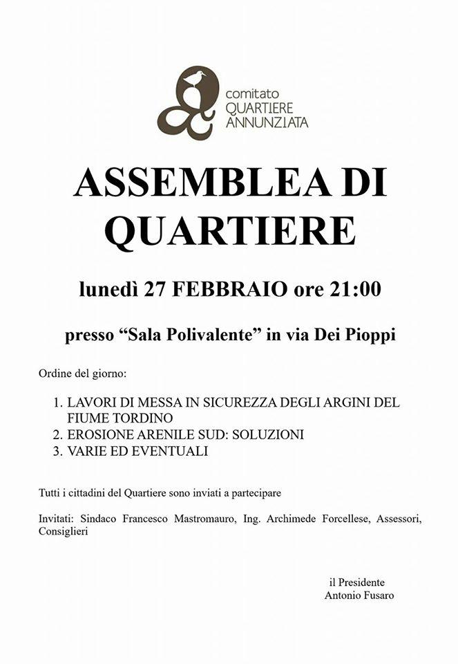assemblea comitato annunziata 27 febbraio