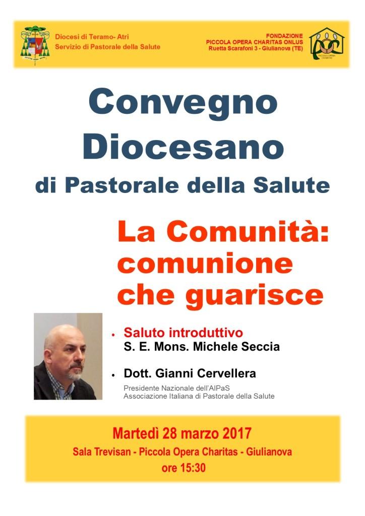 """Giulianova. Convegno Diocesano di Pastorale della Salute """" La Comunità': comunione che guarisce"""""""