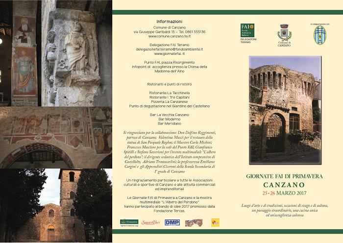 Giornate FAI di Primavera – 25 e 26 marzo 2017 – Canzano (TE)