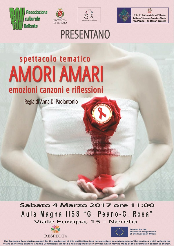 Locandina Amori Amari Nereto - 4 Marzo 2017