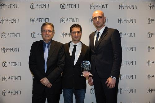 Lorenzo Dattoli al centro con i suoi collaboratori Venanzio Rossi ed Enrico Fracassa