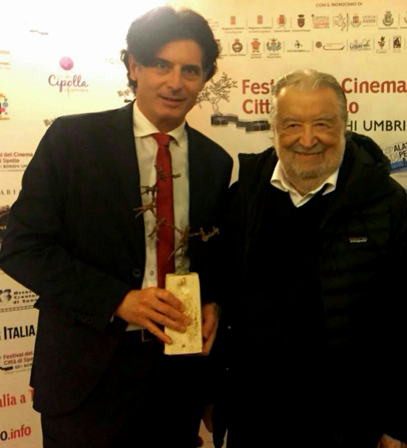 PuPi Avati con il compositore Davide Cavuti alla cerimonia di premiazione del Premio Carlo Savina per la musica da film