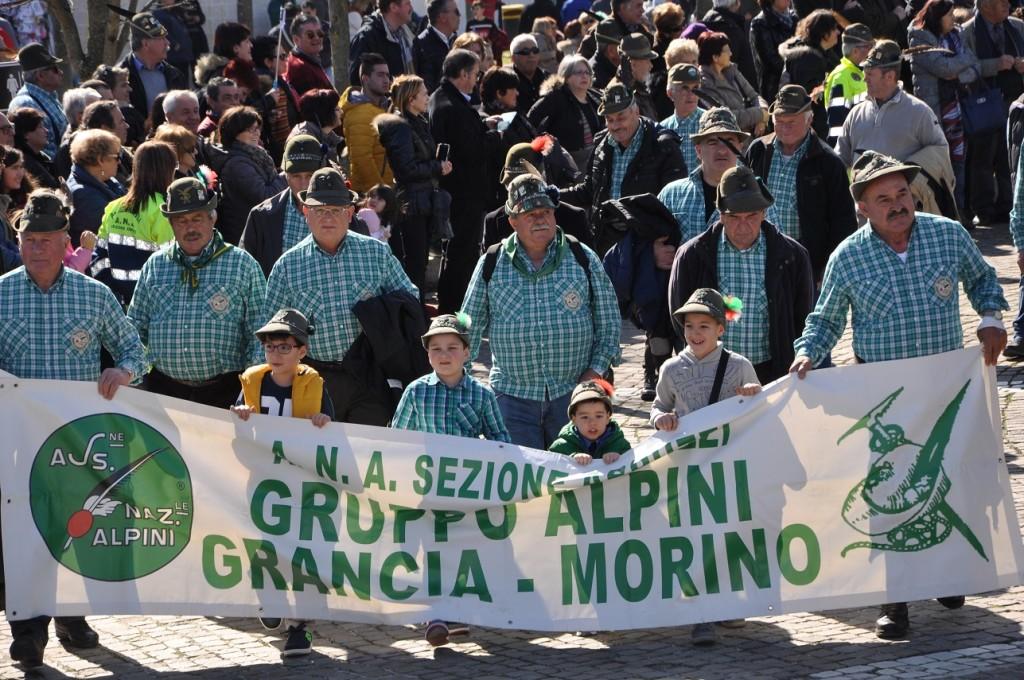 Gli Alpini abruzzesi in raduno al Santuario S. Gabriele per ricordare la battaglia di Selenyj Jar (Russia, dicembre 1942). 25° raduno degli alpini abruzzesi