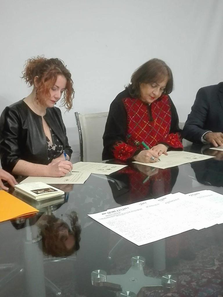Valeria di Felice e ambasciatrice Mai Alkaila
