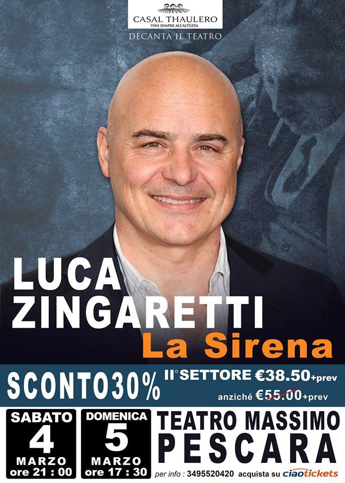 locandina Zingaretti - La Sirena