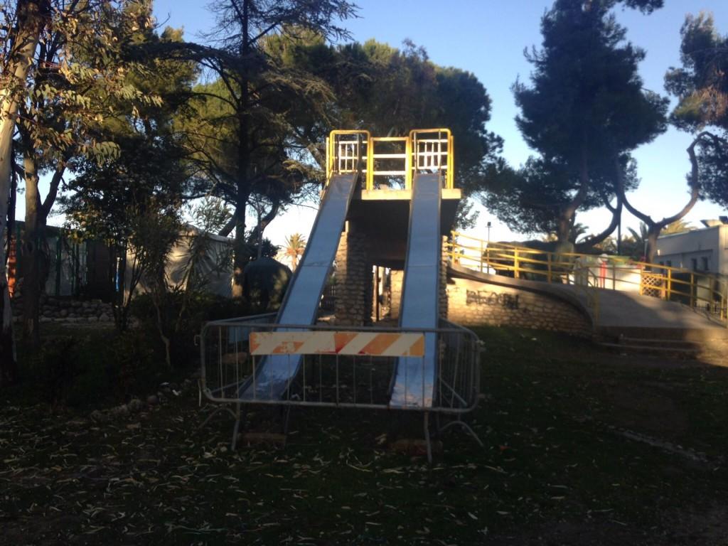 scivolo da rimuovere in Parco Vuillermin