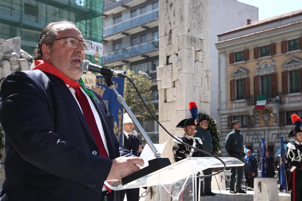 Celebrazione 25 aprile a Pescara. Il discorso del Sottosegretario d'Abruzzo Mario Mazzocca.