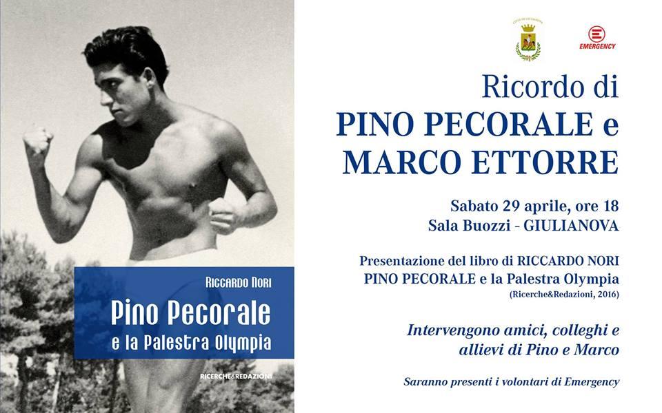 locandina presentazione libro Pino Pecorale e la Palestra Olympia