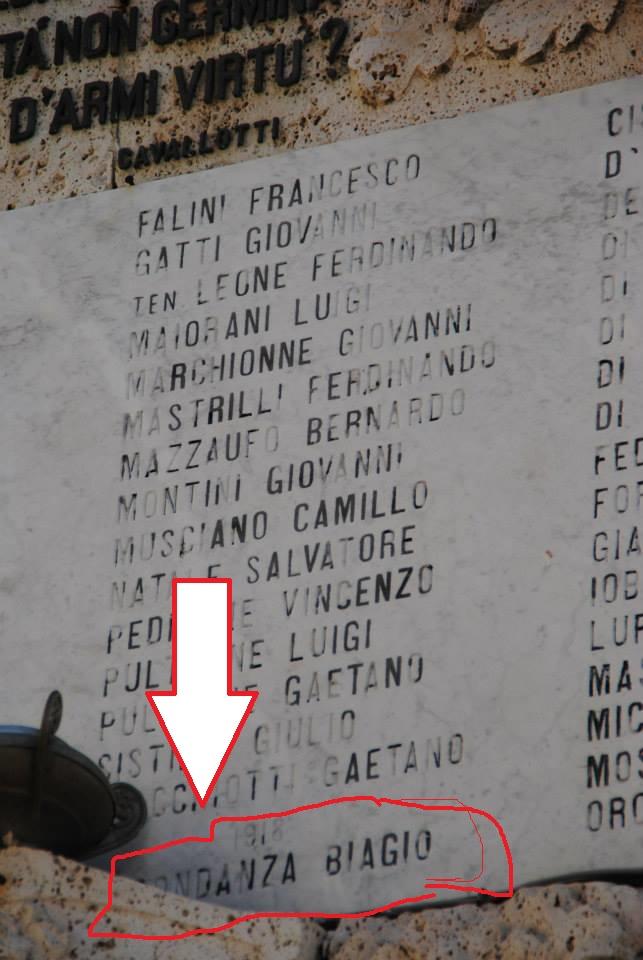 Giulianova. Biagio Abbondanza, disperso nella conquista del Monte Asolone (1.520 m.)