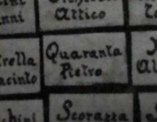 Nome e cognome sull'album/quadro dei caduti giuliesi.