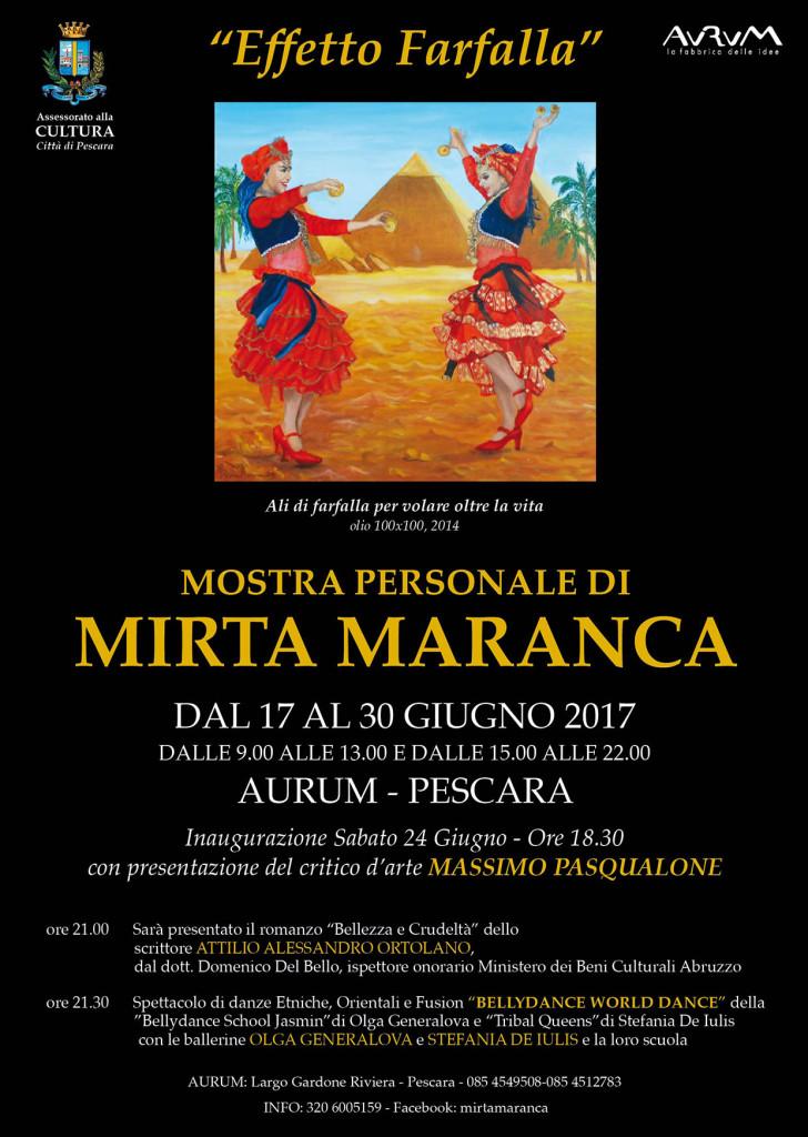 """Pescara. Mirta Maranca espone nella sua città natale con """"Effetto Farfalla"""" all'Aurum."""