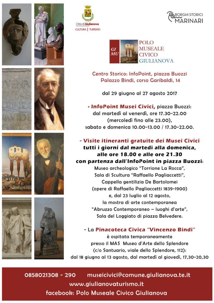Giulianova. Turismo&Cultura Estate2017: nuovo servizio dei musei civici di Giulianova con visite itineranti dal 29 giugno al 27 agosto