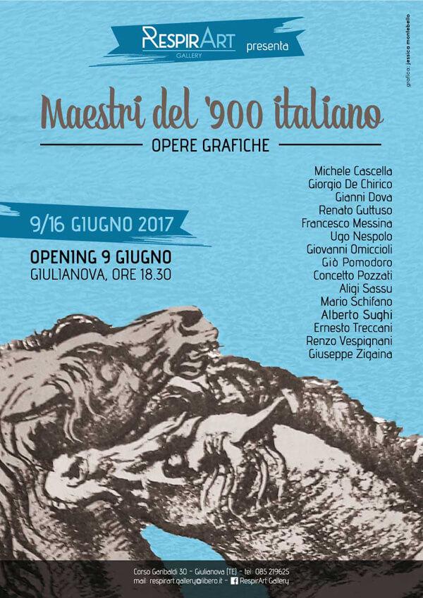 locandina-mestri del 900 italiano