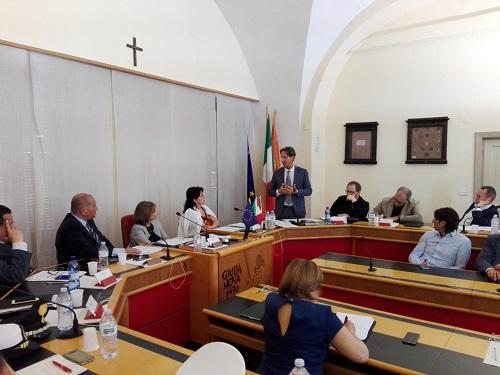 """Giulianova. Tenuta ieri la seconda seduta del Consiglio dell'Unione dei Comuni """"Le Terre del Sole""""."""