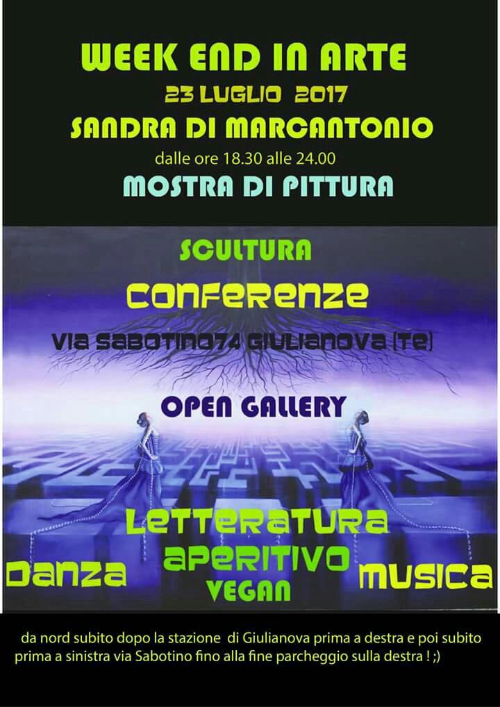 Giulianova. Week End in Arte il 23 luglio 2017, dalle 18,30/24,00